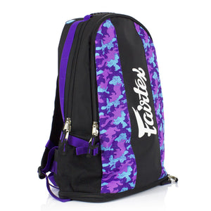 BAG4 Fairtex Purple Camo Rucksack Gym Bag