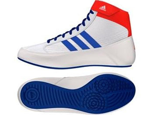 Adidas Havoc Wrestling Boot White/Blue - Fightstore Pro