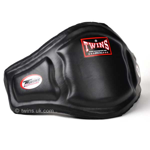 Twins Black Double Padded Leather Belly Pad