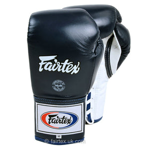 Fairtex Competition Lace Up Boxing Gloves BGL6 - Blue