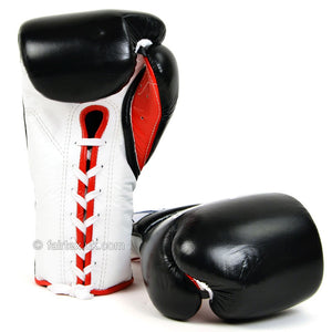 Fairtex Mexican Lace-Up Gloves BGL7 - Black 12oz 2