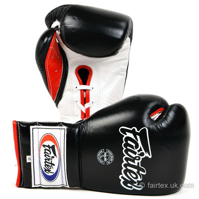 Fairtex Mexican Lace-Up Gloves BGL7 - Black 12oz