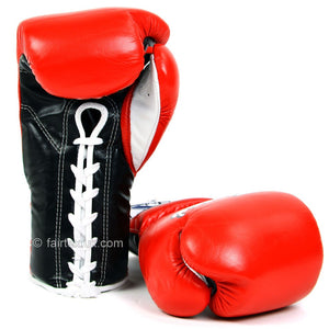 Fairtex Mexican Lace-up Gloves BGL7 - Red 12oz 2