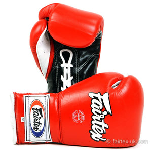 Fairtex Mexican Lace-up Gloves BGL7 - Red 12oz