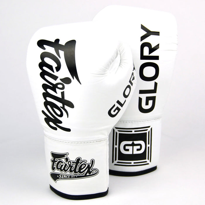 Fairtex X Glory Lace Boxing Gloves - White