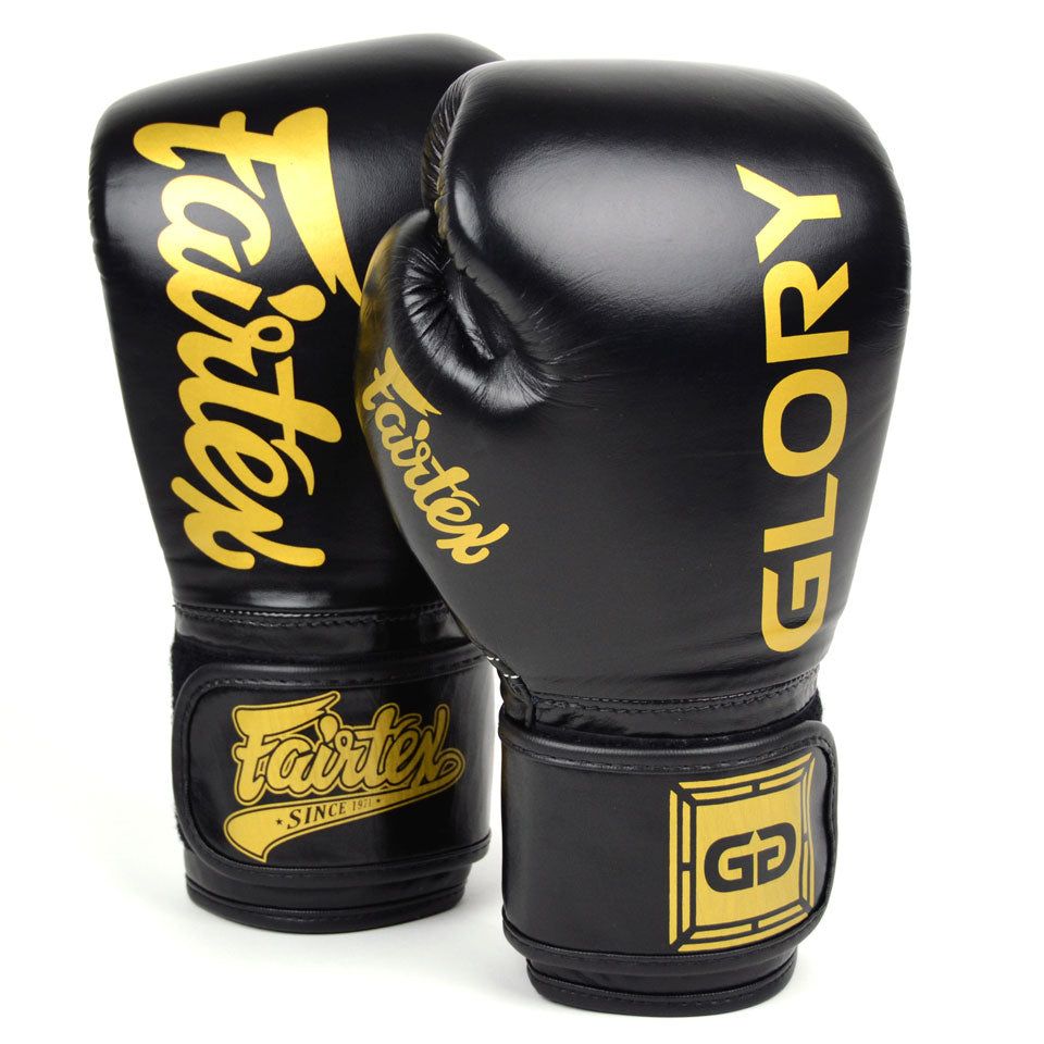 Fairtex X Glory White Velcro Muay Thai Boxing BGVG1 Gloves
