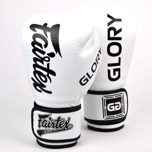 Fairtex X Glory Velcro Boxing Gloves - White