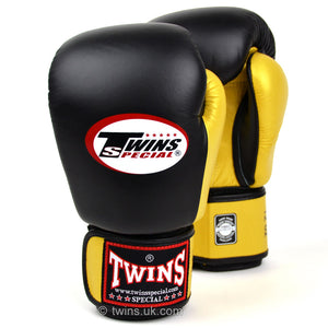 Twins Special Two Tone Boxing Gloves Black/Gold