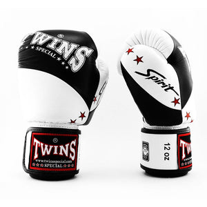 Twins Special Boxing Gloves - Spirit - Black/White
