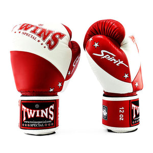 Twins Special Boxing Gloves - Spirit - White/Red - Fightstore Pro
