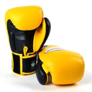 BGVL3-2T Twins 2-Tone Yellow-Black Boxing Gloves
