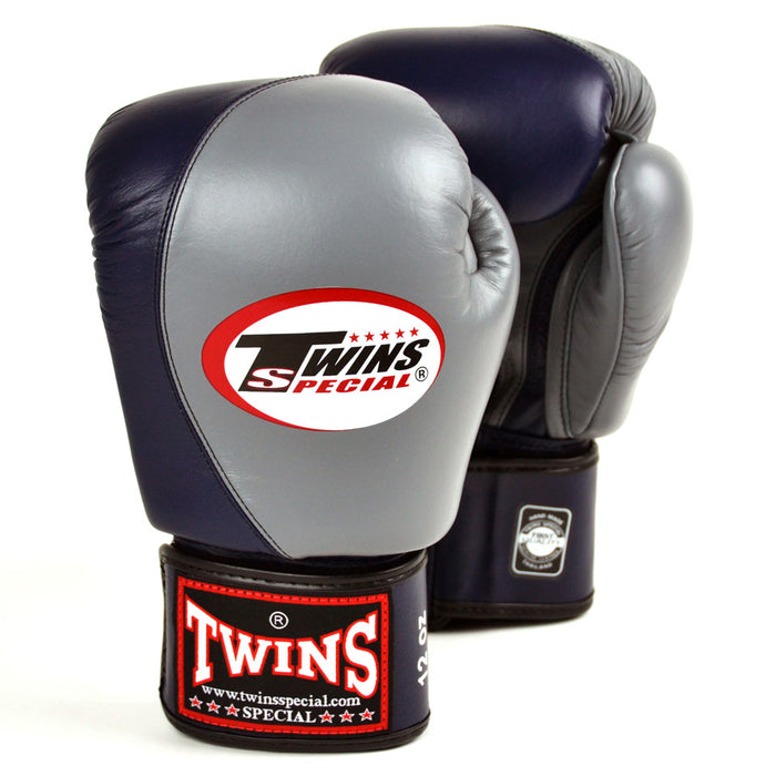 Twins BGVL8 Grey-Navy 2-Tone Boxing GLoves