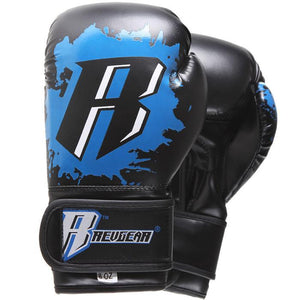 Kids Deluxe Boxing Gloves - Blue - Fightstore Pro