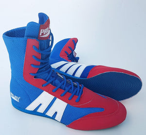 Pro Box Boxing Boots - Blue/Red