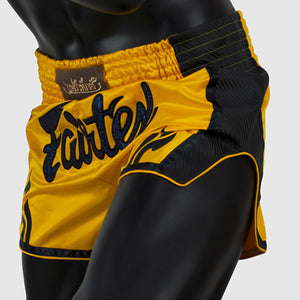 Fairtex BS1701 Slim Cut Muay Thai Shorts - Yellow