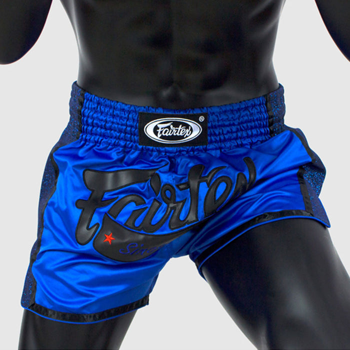 Fairtex BS1702 Slim Cut Muay Thai Shorts - Blue
