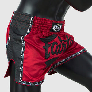 Fairtex BS1703 Slim Cut Muay Thai Shorts - Red/Black