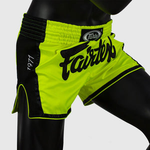 Fairtex BS1706 Slim Cut Muay Thai Shorts - Lime Green