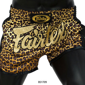 Fairtex BS1709 Slim Cut Muay Thai Shorts - Leopard