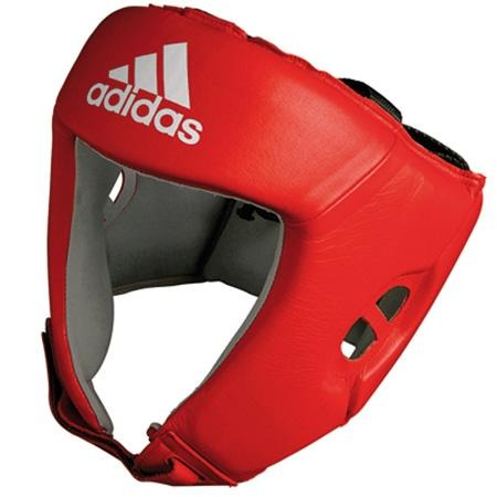 Adidas AIBA Licensed Amateur Contest Head Guards - Red