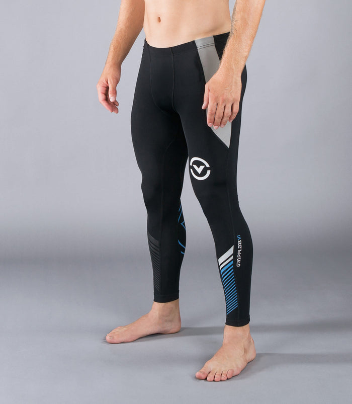 Virus StayCool Mens Grappling Spats Black/Blue