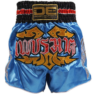 D.E Fit Special Muay Thai Shorts - Blue Yellow