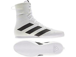 Adidas Box Hog 3 Boxing Boots - White - Fightstore Pro