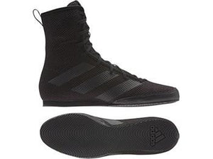 Adidas Box Hog 3 Boxing Boots - Black - Fightstore Pro