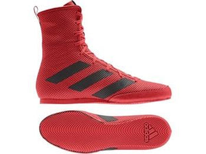 Adidas Box Hog 3 Boxing Boots - Red