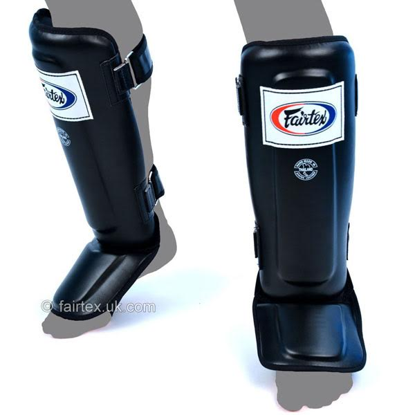 Fairtex Double Padded Muay Thai Shin Pads Black