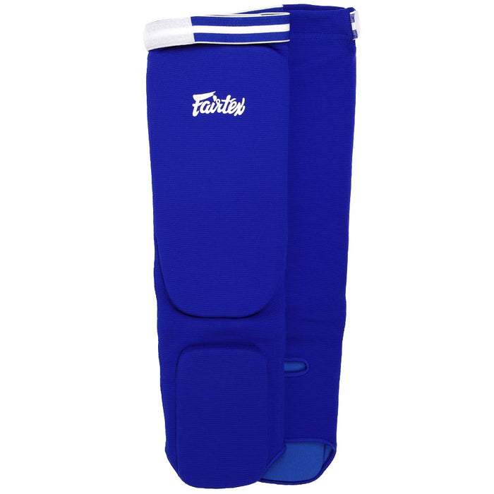 Fairtex SPE Blue Elastic Competition Shin Pads