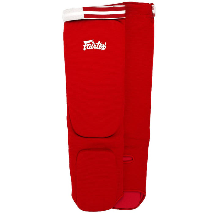Fairtex SPE Red Elastic Competition Shin Pads