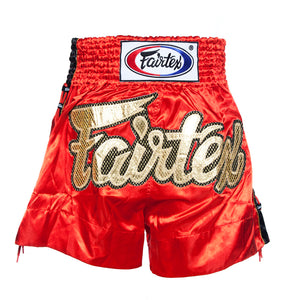 Fairtex BS0602 Red Laced Sides Muay Thai Shorts