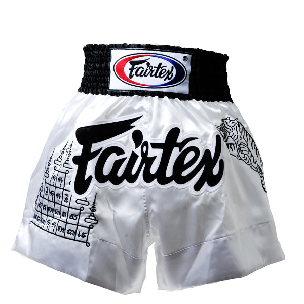 Fairtex BS0637 Superstition White Muay Thai Shorts