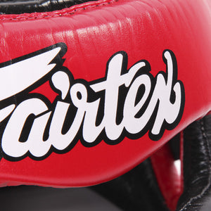 Fairtex Ultimate Full Coverage Headguard - Black And Red 2