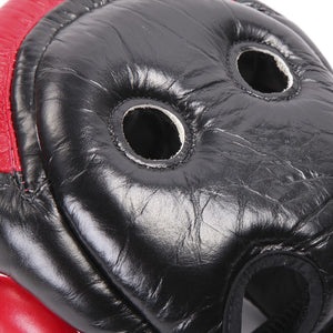 Fairtex Ultimate Full Coverage Headguard - Black And Red 1
