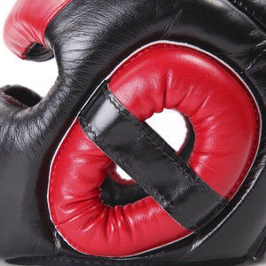 Fairtex Ultimate Full Coverage Headguard - Black And Red 5