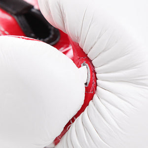 Fairtex BGV9 Mexican Style Boxing Gloves White-Red 3