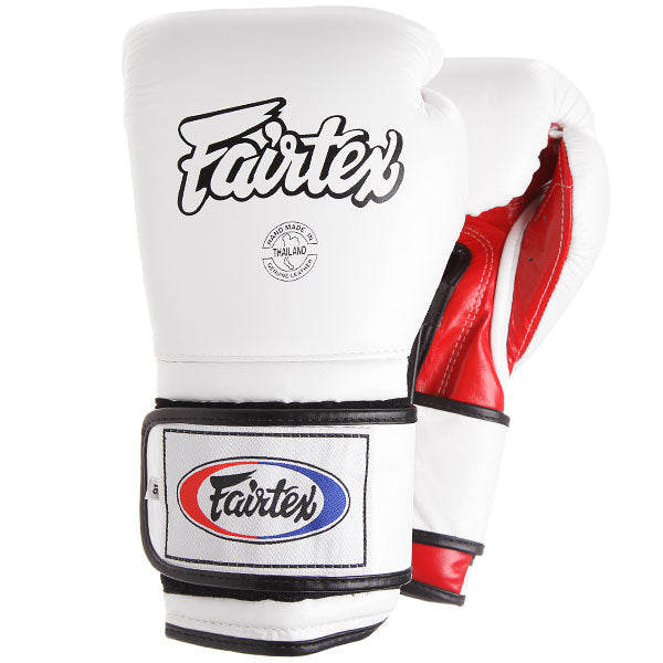 Fairtex Mexican Boxing Gloves - BGV9 White and Red
