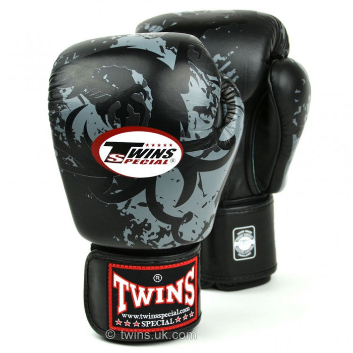 Twins Special Boxing Gloves Tribal Dragon - Black