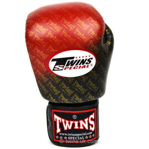 Twins Special Boxing Gloves Black-Red Fade