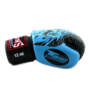 Twins Special Boxing Gloves - Sky Blue Wolf