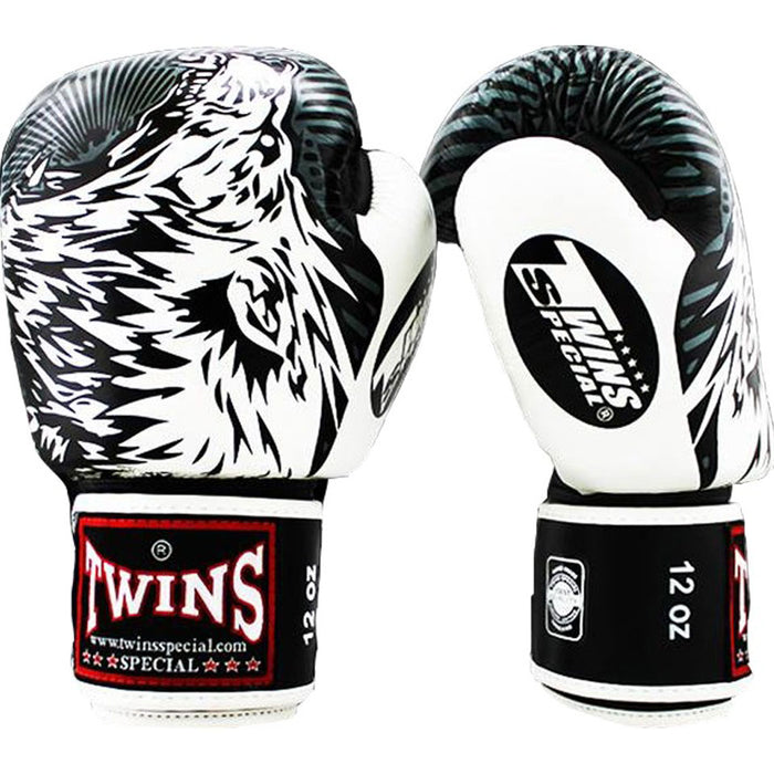 Twins Special Boxing Gloves - White Wolf