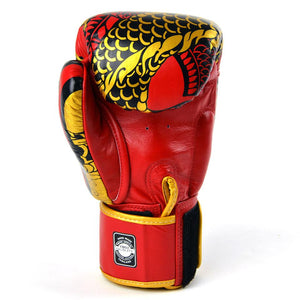 Twins Special Boxing Gloves - Nagas - Red/Gold - Fightstore Pro