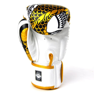 Twins Special Boxing Gloves - Nagas - White/Gold - Fightstore Pro