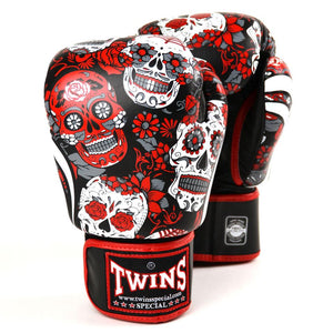 Twins Special Boxing Gloves - Red Skull - Fightstore Pro