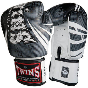 Twins Special Boxing Gloves TW5 - Black/White