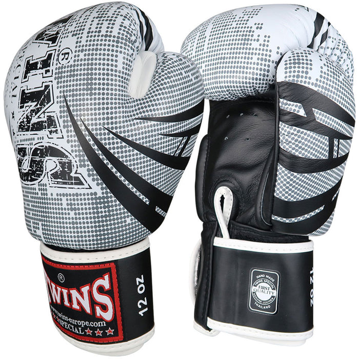 Twins Special Boxing Gloves TW5 - White/Black