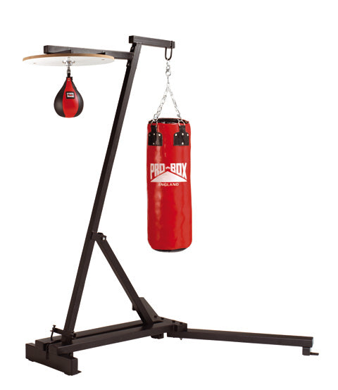 Pro Box Free Standing Punch Bag Frame Complete with Speedball Platform