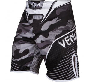 Venum Camo Hero Fight Shorts - White/Black